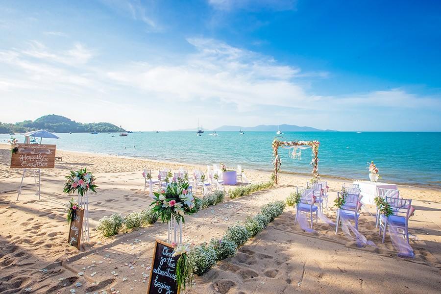 Western Wedding on the Beach