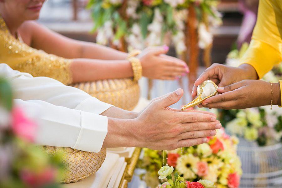 Combination of thai & western ceremony